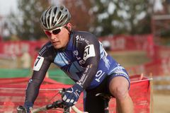 Sean Haidet - Masters Cyclocross Racer Stock Image