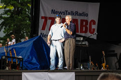 Sean Hannity Oliver North Fotografia de Stock Royalty Free