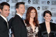Sean Hayes,Debra Messing,Megan Mullally Royalty Free Stock Photo