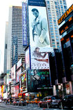 Sean John Billboard, Times Square, NYC. Billboards adorn the landscape of Times Square, Manhattan, NYC royalty free stock photos