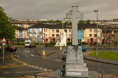 Sean Keenan Memorial Derry Londonderry L'Irlanda del Nord Il Regno Unito Fotografie Stock