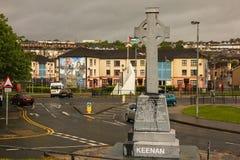 Sean Keenan Memorial Derry Londonderry Noord-Ierland Het Verenigd Koninkrijk Stock Foto's