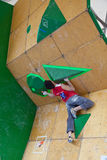 Sean McColl, Vail bouldering qualification. Vail, Colorado, USA - June 3rd 2011 - The Teva Mountain Games Stock Image