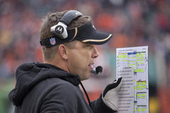 Sean Payton Calls in the play Royalty Free Stock Photography