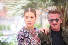 Sean Penn, Adele Exarchopoulos Lizenzfreie Stockbilder