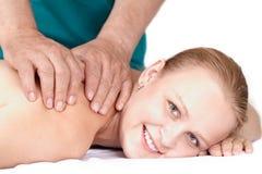 Seance van medische massage. Stock Fotografie