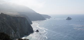 A seanery of the big sur california. A picture of a seanery of the Big Sur taken during a bright and sunny day on a daytrip in California USA Stock Photos