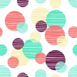 Seanless pattern with circle. Polka dot design royalty free illustration
