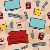 Seanless pattern home cinema Stock Image