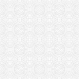Seanless vector geometric white pattern. Modern linear geometric pattern in white and gray, website background or holiday wrapping paper or elegant wedding Royalty Free Stock Images