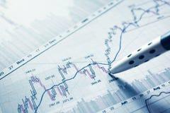 Seansu biznesowego raportu pojęcie Fotografia Stock