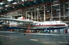 Seaplane είμαι-200, κατασκευή, Ταγκανρόγκ, Ρωσία, στις 18 Μαΐου 2013 Στοκ Φωτογραφία