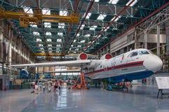 Seaplane είμαι-200ChC, κατασκευή, Ταγκανρόγκ, Ρωσία, στις 18 Μαΐου 2013 Στοκ φωτογραφία με δικαίωμα ελεύθερης χρήσης