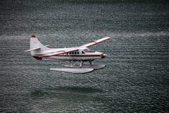 Seaplane πέρα από Juneau Στοκ Εικόνες