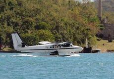 Seaplane που επιπλέει στο νερό Στοκ Εικόνα