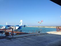 Seaplane προσγείωση Στοκ Εικόνες