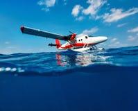 Seaplane στο νερό Στοκ Φωτογραφία