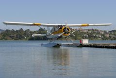 Seaplane #1. A seaplane floats on standby royalty free stock image