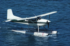 Seaplane. A seaplane ready for take-off Stock Images