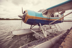 Seaplane in Alaska. Summer season royalty free stock photo