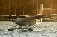 Seaplane approaching Royalty Free Stock Photos