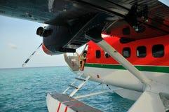 Seaplane at Bathala (Maldives) Royalty Free Stock Photo