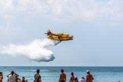 Seaplane Canadair CL-215 Royalty Free Stock Images