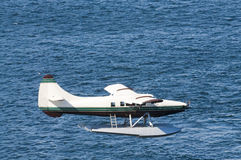 Seaplane coming in to land Stock Images