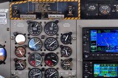 Seaplane control panel Stock Photo