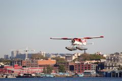 Seaplane Departing Vancouver Harbor Royalty Free Stock Image