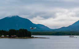 Seaplane Departure Royalty Free Stock Photography