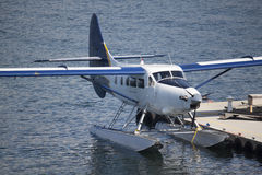 Seaplane at dock Stock Photography