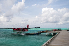 Seaplane at the dock Royalty Free Stock Images