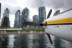 Seaplane in downtown vancouver Stock Images