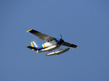 Seaplane in flight Stock Image