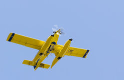 Seaplane flying over the sky Stock Images