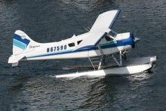 Seaplane. Ketchikan, AK, USA - May 24, 2016:  Upon landing in the water, this Seaplane maneuvers for docking Stock Image