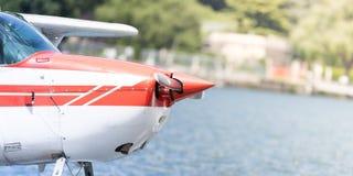 Seaplane on the lake Royalty Free Stock Image