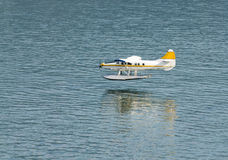Seaplane landing Stock Photos