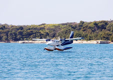 Seaplane landing Royalty Free Stock Photography
