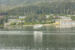 Seaplane Landing Near Juneau Alaska Royalty Free Stock Images