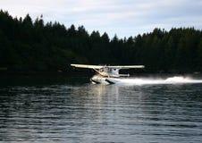 Seaplane landing Stock Photo