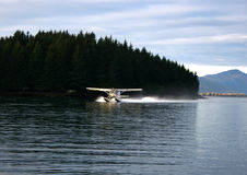 Seaplane landing Royalty Free Stock Photos
