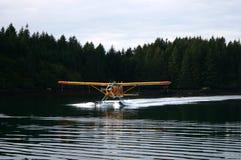 Seaplane landing Royalty Free Stock Images