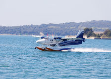 Seaplane landing Stock Photography