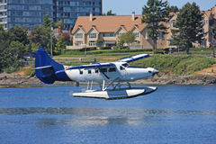 Seaplane landing Stock Photos