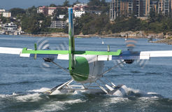 Seaplane leaving Stock Image