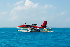 Seaplane in Maldives Stock Photos
