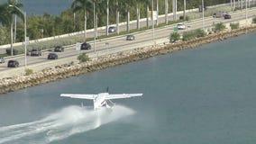 Seaplane in Miami stock video