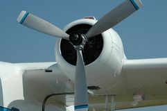 Seaplane propeller. Closeup at an air show Stock Images